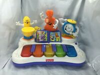 fisher price baby Orchestra Cello, Drums Saxophone piano Instruments Free Ship