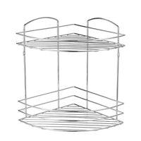 Wall Mounted Chrome Wire 2 Tier Bathroom Shower Basket Caddy | Lexington