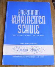 BAERMANN Klarinetten Schule I Opus 63 revidiert Oskar Schubert Klarinettenschule