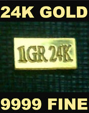 (x5) ACB PURE 24k Gold BULLION MINTED 1Grain BARS 99.99 FINE $