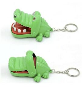 Crocodile Biting Finger Dentist Games Funny Toy Keychain Key Chain Key Ring New