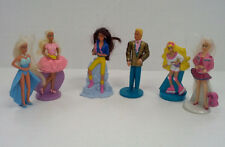 vintage mattel barbie doll 6 figurine lot Macdonalds happy meal promo coronet