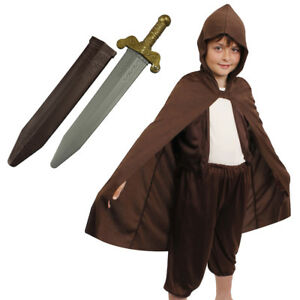BOYS HOBBIT COSTUME WORLD BOOK DAY FANCY DRESS OUTFIT KIDS MYTHICAL CHARACTER