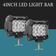 2X 4inch 144W LED Work Light Bars Offroad Spotlight Work Driving Lamp Truck 12V
