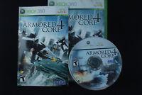 Armored Core 4 (Microsoft Xbox 360, 2007) Complete Sega From Software