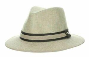 STETSON SALE * NEW MEN FEDORA HAT * L or XL * SHADY PANAMA STYLE SAFARI GOLF UPF