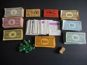 *VINTAGE* 1936 Monopoly Game Pieces, ORIGINAL COMMUNITY CHEST CARDS