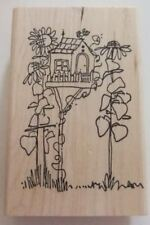 Imaginations ~ 08540 Birdhouse Flowers ~  Rubber Stamp D7