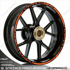 Trims Wheel Stickers Sport Honda VFR 750 800 1200 Orange