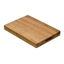 Kyoto Butchers Chopping Block with Handles Bamboo Cutting Board Slicing Worktop