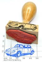 VW 1200 Käfer (1958-67) Autostempel mit Holzgriff - rubberstamp