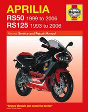 Haynes Manual 4298-Aprilia rs50 (99 - 06) & Rs125 (93 - 06) Taller, Servicio