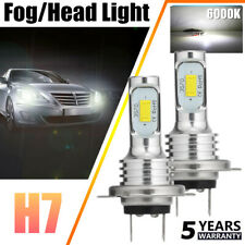 2x H7 LED Headlights Bulbs Conversion Kit High/Low Beam 80W 20000LM 6000K White