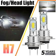 2x H7 LED Headlights Bulbs Conversion Kit High/Low Beam 80W 20000LM 6000K White
