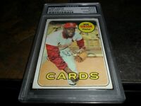 1969 TOPPS #200 CARDINALS Bob Gibson Autographed Signed PSA/DNA (back scribbled)