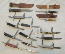 15 knife LOT WWII PAL RH50-CAMILLUS US-IMPERIAL-SHAPLEIGH-CLAUBERG Pocket Fixed