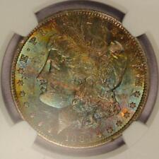 1884-O Morgan Silver Dollar *NGC MS63 CAC* Attractive Rainbow Toning