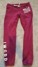 Jack Wills Ladies Joggers Size 8 Purple/maroon