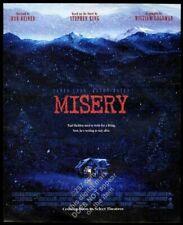 1990 Misery movie release Stephen King vintage print ad