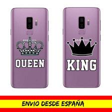 Funda Movil Samsung / King Queen Corona Rey Reina Gel Transparente Dibujo