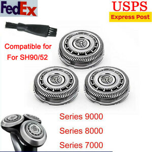 3pcs SH90/52 Replacement Blades for Philips Norelco Series 9000 8000 7000 Shaver
