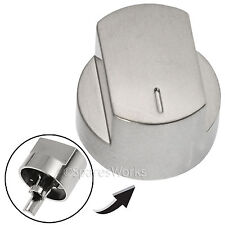 Silver Switch Knob for STOVES Oven Hob Cooker 444445572 444445573 61DFDO 61GDO