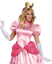 Princess Peach Adult Accessory Kit Womens Girls Crown Gloves Amulet Jewel
