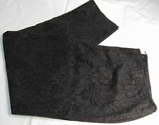 Real Clothes Womens Black Velvet Burnout Brocade Evening Pants Plus Size 24 NWOT
