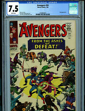 Avengers #24 CGC 7.5 White Pages Marvel 1966 Kirby art Amricons k23