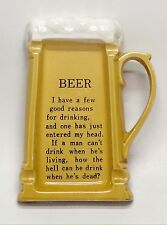 Vintage Artmark Japan Ceramic Beer Mug Ashtray, Man Cave or Bar Decor, Cigar