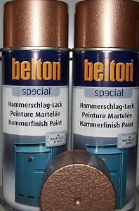 Belton Hammerschlag Lack Kupfer Sprühdose   2 Dosen a  400ml -
