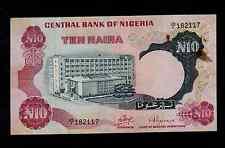 NIGERIA  10 NAIRA ND ( 1973-78 ) PICK # 17a F-VF.