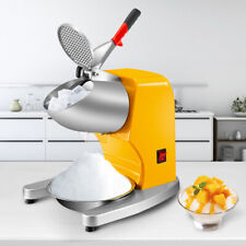 Vevor 210lbsh Ice Shaver Ice Crusher Electric Snow Cone Machine 300w Yellow