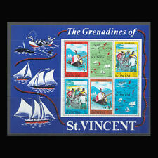 St Vincent, Sc #329a, MNH, 1971, S/S, Boats, Fishing, Map, BK028F