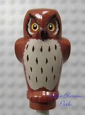 NEW Lego Reddish BROWN OWL -Harry Potter Minifig Pet Bird -Animal w/Printed Face