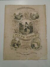 Antique Sheet Music Stephen Foster Edwin Christie Ellen Bayne 1854 Litho Cover