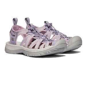 Keen Womens Whisper Walking Shoes Sandals - Grey Pink Purple Sports Outdoors