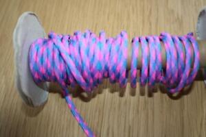 Paracord-Band  550  -Farbmix pink-azurblau