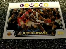 KOBE BRYANT 2008/09 TOPPS GOLD FOIL #24 WITH LEBRON JAMES LAKERS