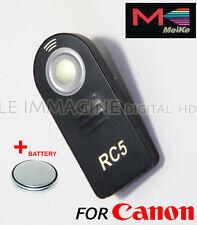 TELECOMANDO INFRAROSSI COMPATIBILE CANON  RC-1 RC-5 RC-6 con batteria