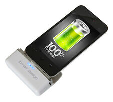 BATERIA EXTERNA Conector  USB PARA iphone 3g,4g,4gs capacidad 2600MHA color negr