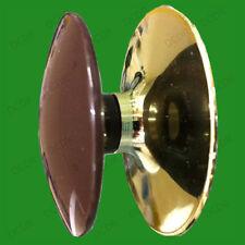 4x 48mm Brown Plastic & Brass Effect Cabinet Cupboard  Door Handles Drawer Knobs