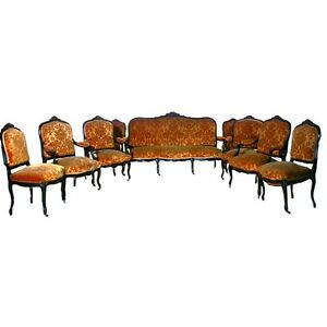 9 pc.French Salon Suite, Sofa & Chairs, France 1800-1899 #1905