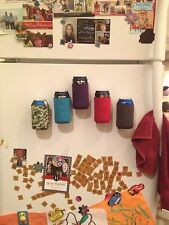 2 Magnetic Can Holders (Koozie, Coozie) Holiday Gift, Tailgate, Golf, BBQ, Fridg