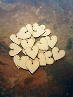 50x Wooden heart shapes 3mm MDF. Blank Embellishments Craft 40mmx40mm