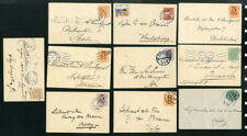 Sweden Cards 10x Early 1920 vintage cancelled w/ Stamps rare