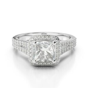 Princess Cut Diamond Wedding Special Ring Solid White Gold 1.68 Ct
