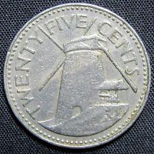 1980 Barbados 25 Cents Coin