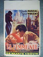affiche cinéma originale femme nue 1949 Giselle Pascal Yves Vincent