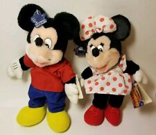 New with tags Vintage Disney Plush Mickey & Minnie Mouse 12""